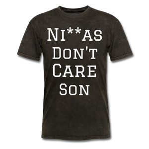 Don't Care  T-Shirt - mineral black