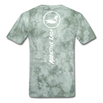Don't Care  T-Shirt - military green tie dye