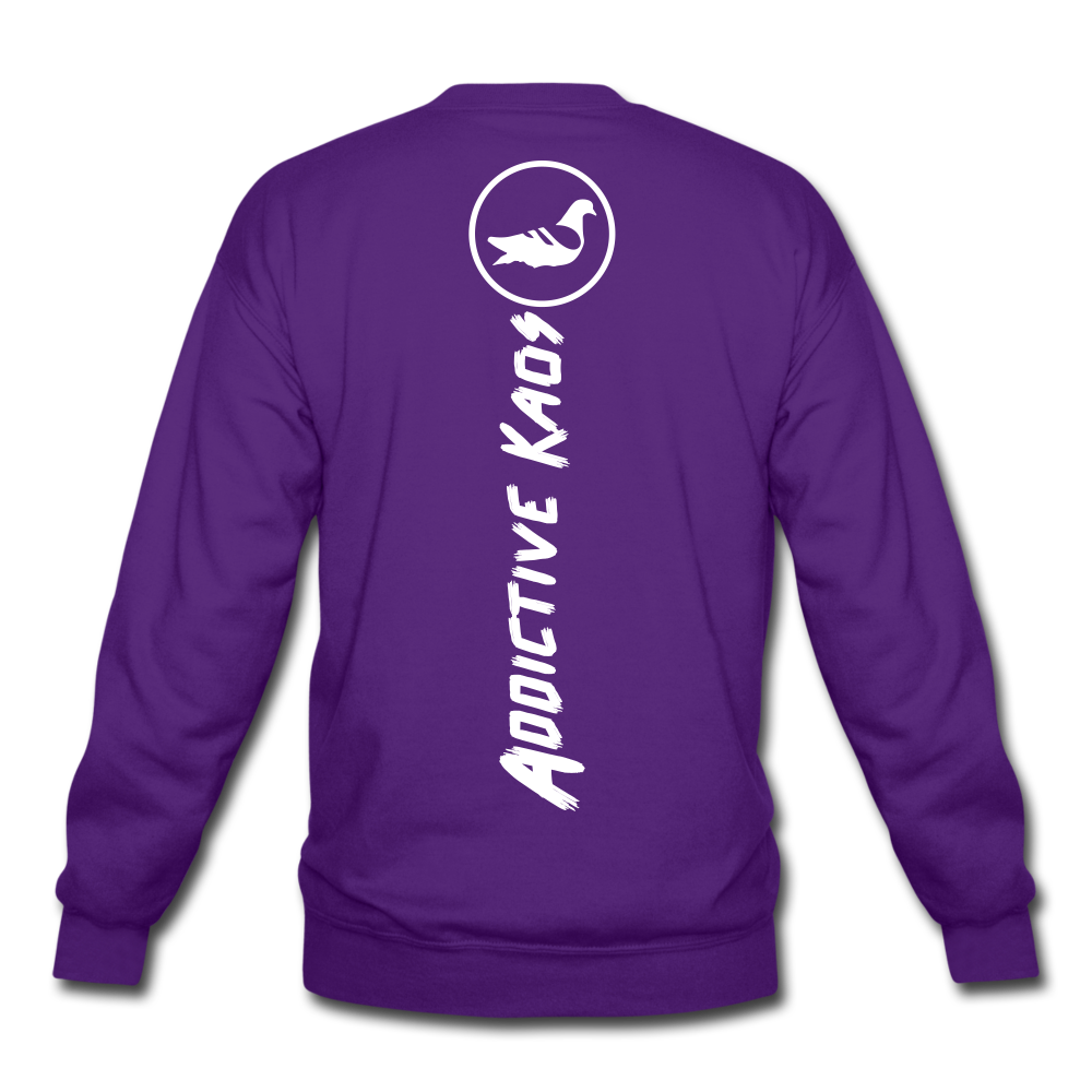 Link In Bio Crewneck Sweatshirt - purple
