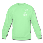 Link In Bio Crewneck Sweatshirt - lime