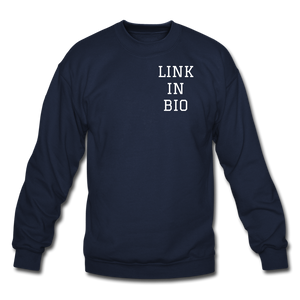 Link In Bio Crewneck Sweatshirt - navy