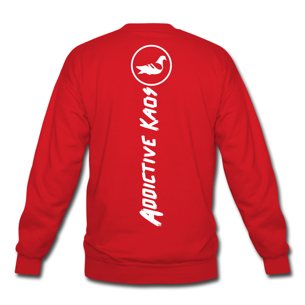 Link In Bio Crewneck Sweatshirt - red