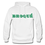 Broque Heavy Blend Adult Hoodie - white