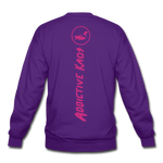 Percy Velvet Crewneck Sweatshirt - purple