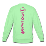 Percy Velvet Crewneck Sweatshirt - lime