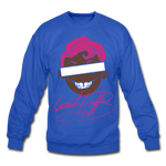 Percy Velvet Crewneck Sweatshirt - royal blue