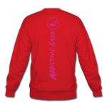 Percy Velvet Crewneck Sweatshirt - red