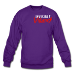 Invisible Villains Crewneck Sweatshirt - purple
