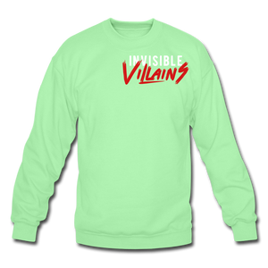 Invisible Villains Crewneck Sweatshirt - lime