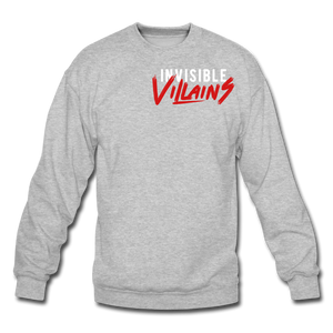 Invisible Villains Crewneck Sweatshirt - heather gray