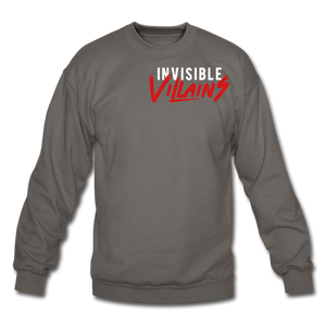 Invisible Villains Crewneck Sweatshirt - asphalt gray