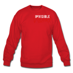 Invisible Villains Crewneck Sweatshirt - red