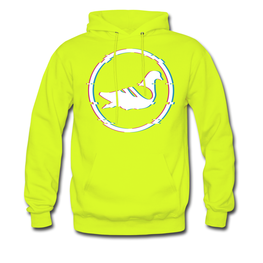 AK Glitch Men's Hoodie - safety green