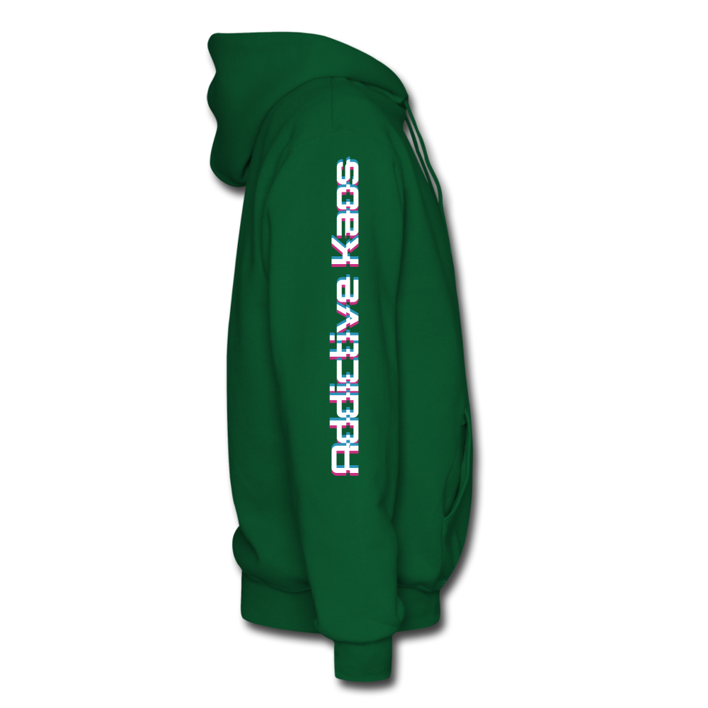AK Glitch Men's Hoodie - forest green