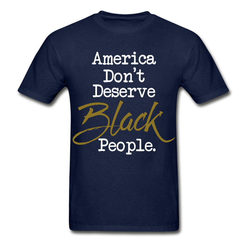 America Don't Cotton Adult T-Shirt - navy