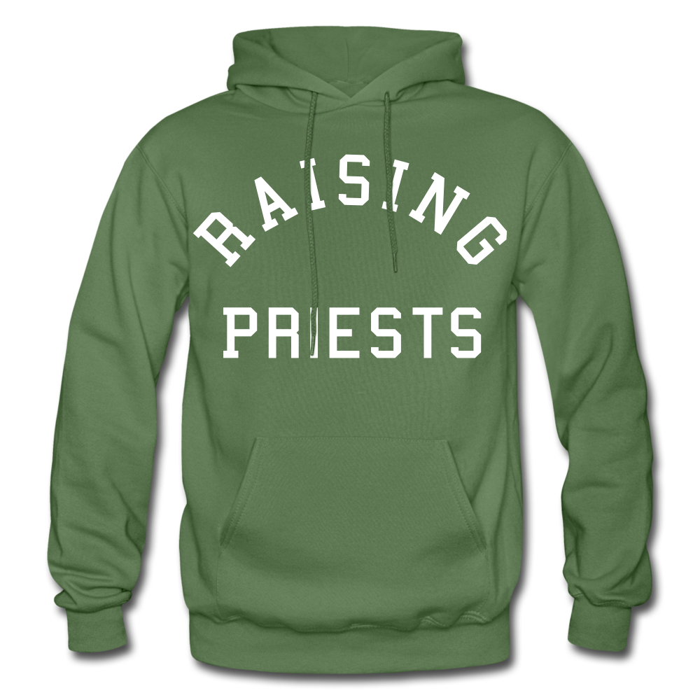 Raising Priests Heavy Blend Adult Hoodie - military green