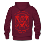 Hold The Torch Hoodie - burgundy