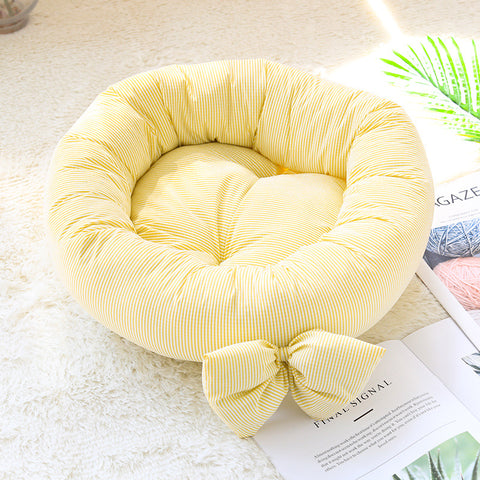 Cute Ribbon Design Pet Bed 40cm x 12cm (Small)