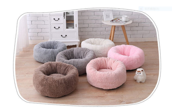 High Quality Pet Dog Cat Ultra Soft Cotton Filling Round Warm Bed (Large)