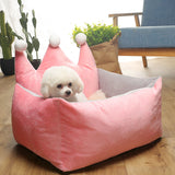 High Quality Pet Dog Cat Luxurious Princess Design Bed (Small) 48x38x30cm