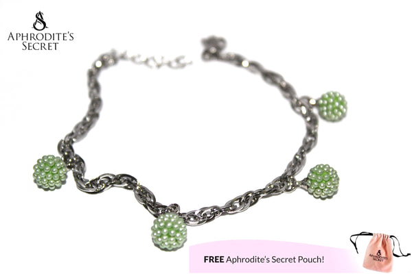Aphrodite's Secret High Quality Stainless Steel Dangling Bracelet with Ball-shaped Charm Design