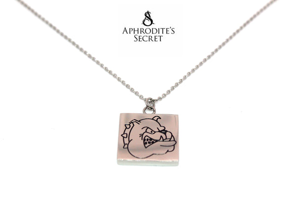 Aphrodite's Secret High Quality Stainless Steel Bulldog Design Pendant + Necklace