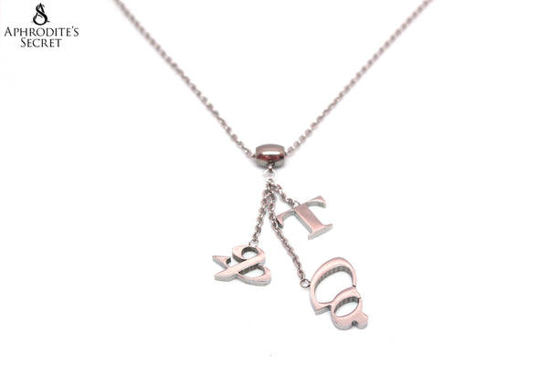 High Quality Stainless  Steel Necklace dangling T&Co Inspired Design