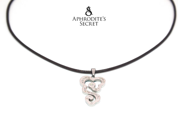 Aphrodite's Secret High Quality Brown Leather Necklace + Pendant BUY 1 TAKE 1