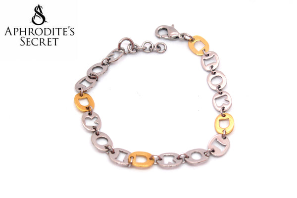 Aphrodite's SecretHigh Quality Stainless steel Bracelet Two Tone Round Chain Design