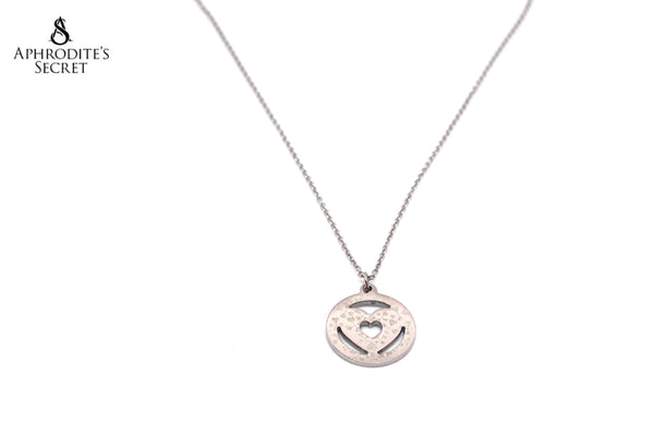 Aphrodite's Secret High Quality Stainless  Steel Necklace Heart Circle Design