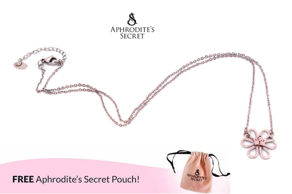 Aphrodite's Secret High Quality Stainless  Steel Necklace petal Flower Design