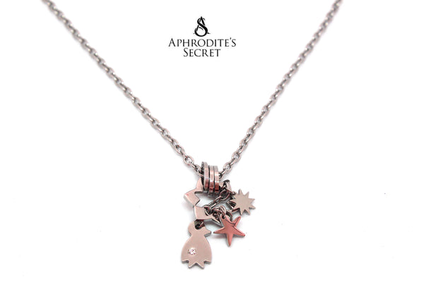 Aphrodite's Secret High Quality Stainless  Steel Necklace Dangling Star Penguin Design