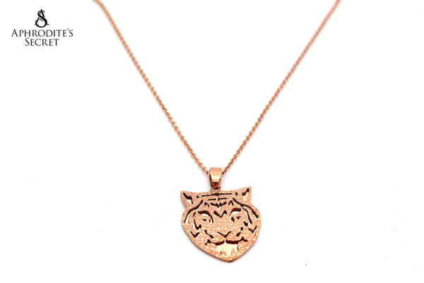 Aphrodite's Secret High Quality Stainless Steel Necklace Jaguar Design(Rose Gold)