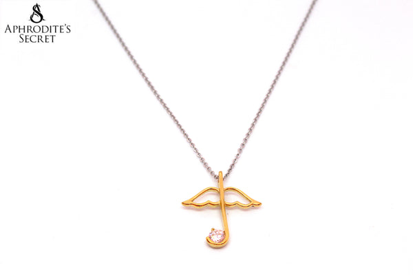 Aphrodite's Secret High Quality Stainless Steel Necklace Gold Umbrella Design
