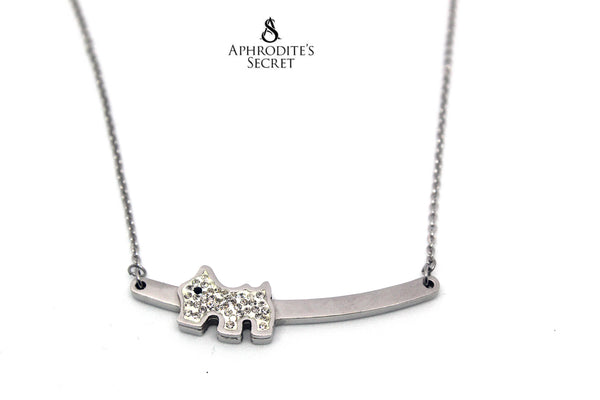 Aphrodite's Secret High Quality Stainless Steel Necklace Cute Dog Design