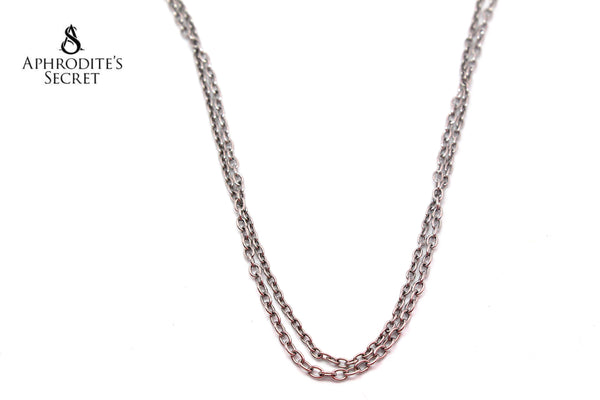 Aphrodite's Secret High Quality Stainless Steel Necklace Long Classic Plain Design