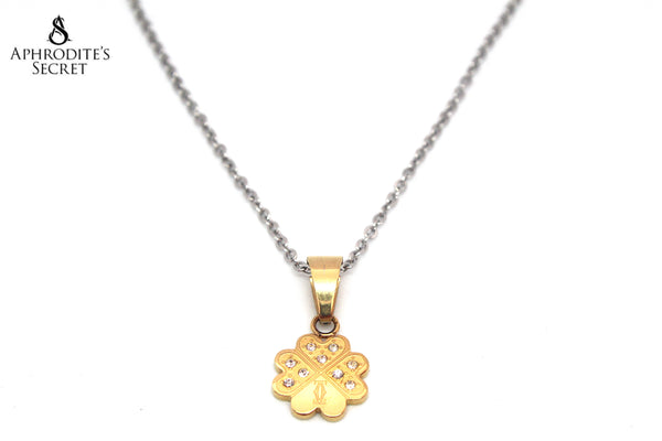 Aphrodite's Secret High Quality Stainless Steel Necklace Clover Leaf Design Pendant + necklace