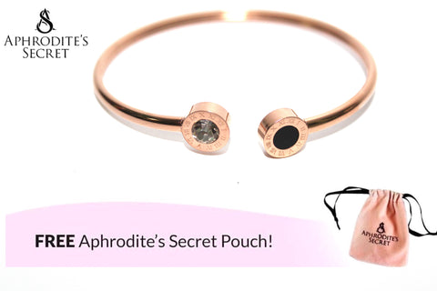Aphrodite's Secret High Quality Stainless Steel Rose Gold Open Bangle (Small Wrist Size)
