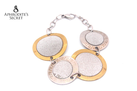 Aphrodite's Secret High Quality Stainless Steel  Big Bracelet  Circle Design