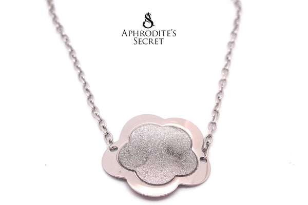 Aphrodite's Secret High Quality Stainless Steel  Necklace Big Floral Retro Design