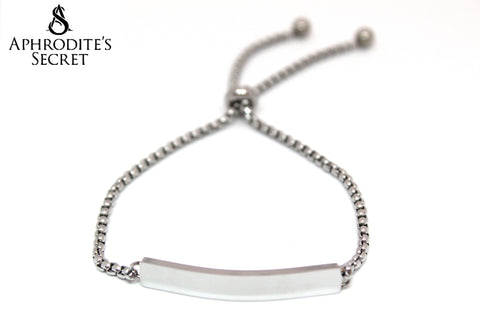 Aphrodite's Secret High Quality Sliding Clasp Elegant ID Bracelet Design (Pandora Inspired) Stainless Steel