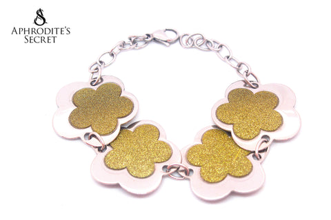 Aphrodite's Secret High Quality Stainless Steel  Big Bracelet  Petal Flower Design