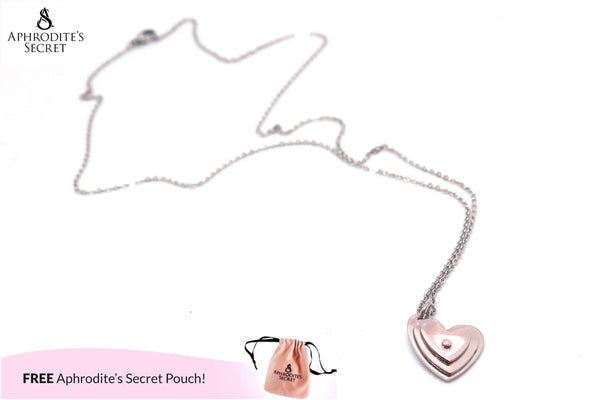 Aphrodite's Secret High Quality Stainless Steel  Necklace Small Heart Sideway Design