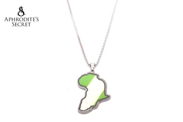 Aphrodite's Secret High Quality Stainless Steel Map Design Pendant + Necklace