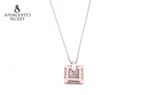 Aphrodite's Secret High Quality Stainless Steel Necklace Small Square design