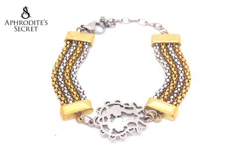 Aphrodite's Secret High Quality Stainless Steel Bracelet Two Tone Design