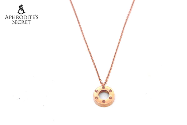 High Quality Stainless Steel Necklace Bulgari inspired design (Rose Gold)