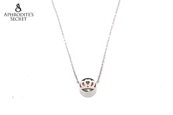 Aphrodite's Secret High Quality Stainless Steel Necklace Princess Crown Design