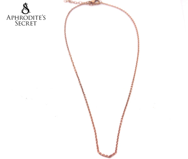 Aphrodite's Secret High Quality Stainless Steel Necklace Plain Design (Rose Gold)