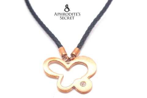 Aphrodite's Secret High Quality Leather Necklace Retro Stainless Floral Design